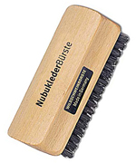 Nubuck leather brush, 9.5 cm