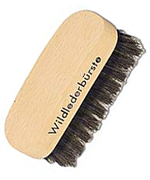 Suede brush made of beech wood, 9 cm