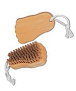 Foot brush made of beechwood