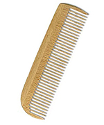 Wooden pocket comb made of beech wood, fine, 14,5 cm