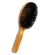 Oval Wooden hair brush 9 rows