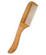 Tail comb made of olive wood, 23 cm