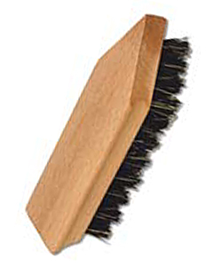 Shoe dirt brush made of beech wood, 13.5 cm