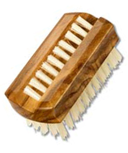 Travel Nail Brush from olive wood, 6 cm